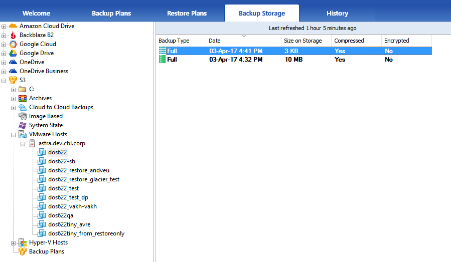 File-Level Restore for VMs Backed up from ESXi & Hyper-V Servers in